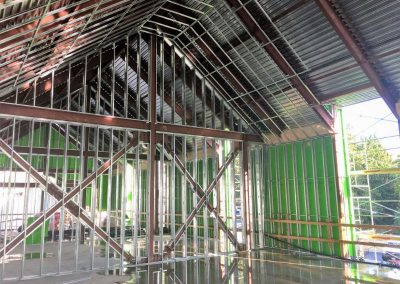Vaulted Steel Stud Framing